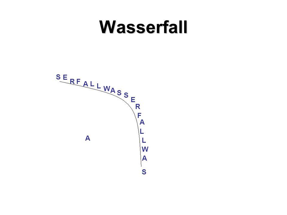 Wasserfall W A S S E R F L L W A S S R E AF LL A A