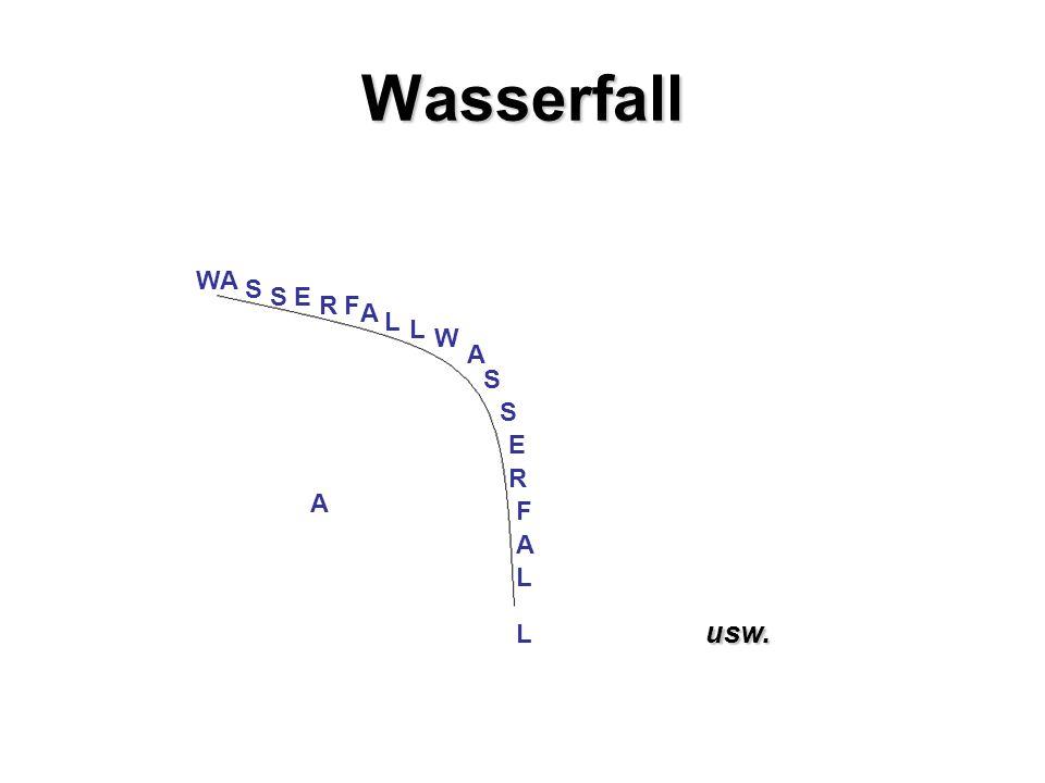Wasserfall W A S S E R F L L W A S S R E AF L L A A