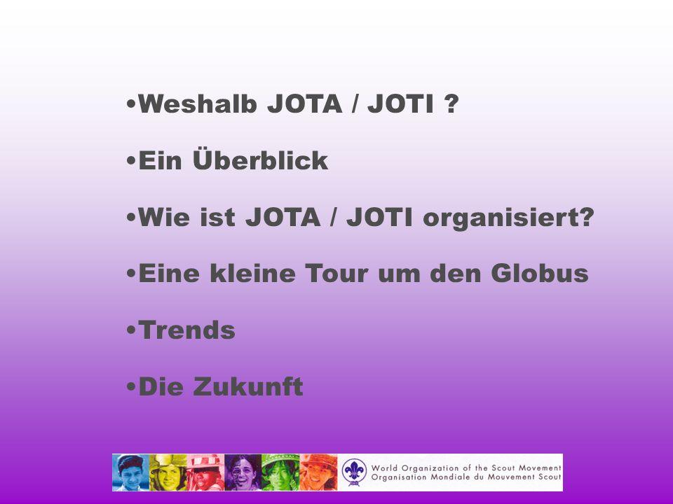 Weshalb JOTA / JOTI . Ein Überblick Wie ist JOTA / JOTI organisiert.