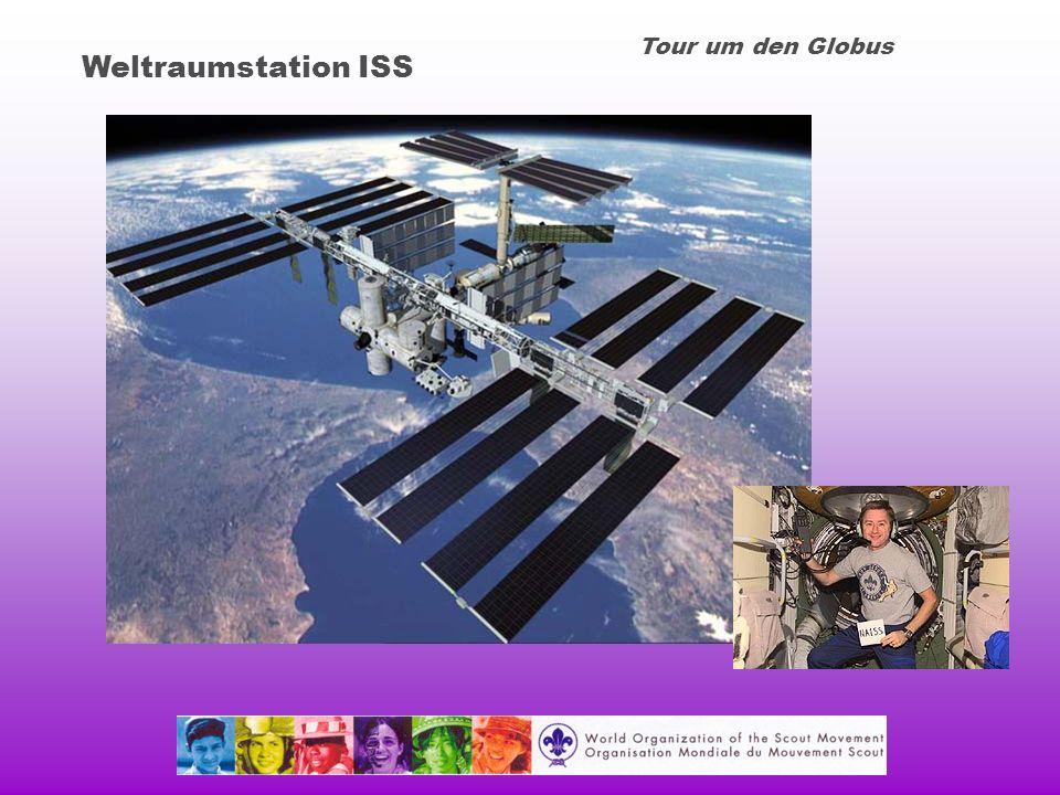 Tour um den Globus Weltraumstation ISS