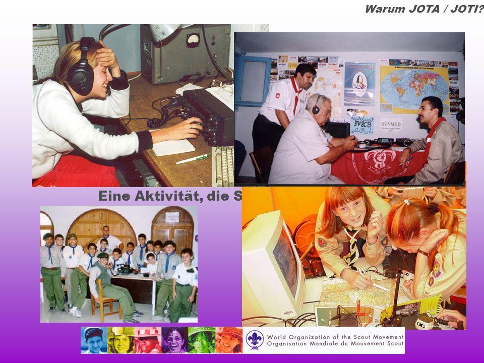 Tour um den Globus Deutschland DL Bundesweites Treffen auf 80m beim JOTA Ausgefeilte und viele Puzzlespiele Hohe Integration von Internet im JOTA