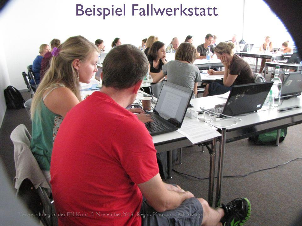 Modell Schlüsselsituationen Beispiel Fallwerkstatt Veranstaltung an der FH Köln_5. November 2013_Regula Kunz und Adi Stämpfli