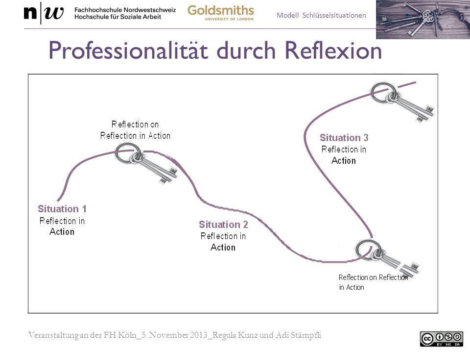 Modell Schlüsselsituationen Professionalität durch Reflexion Veranstaltung an der FH Köln_5. November 2013_Regula Kunz und Adi Stämpfli