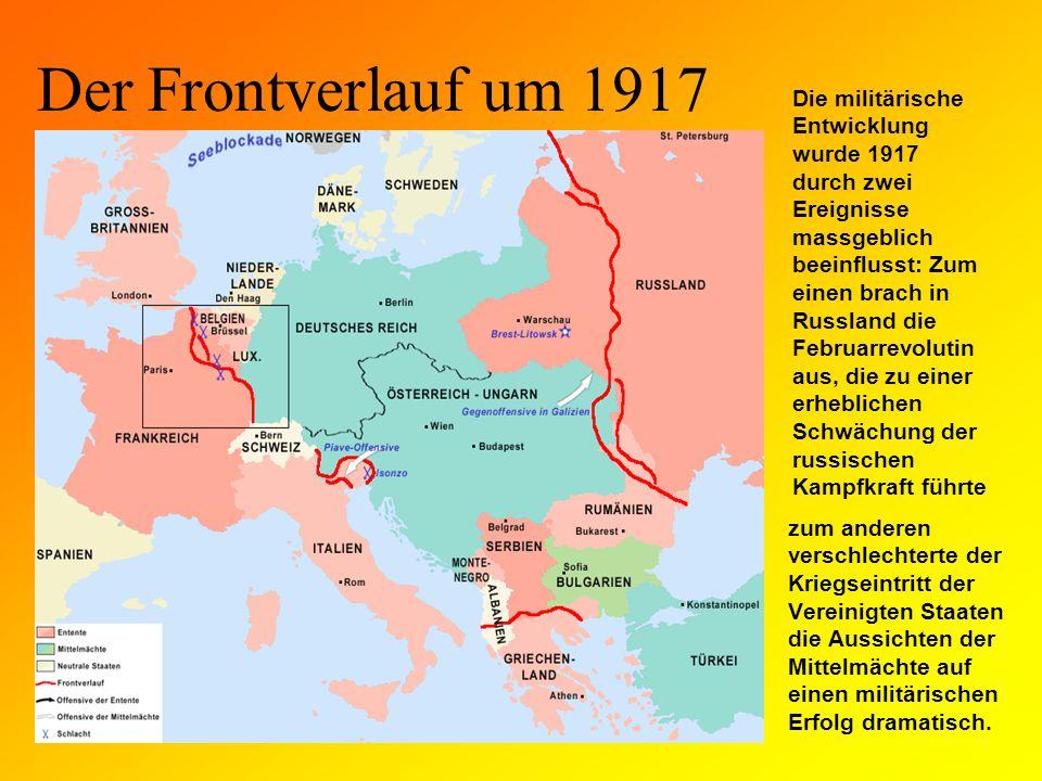 Der Frontverlauf um 1918 Nach der Rückkehr von Wladimir I.