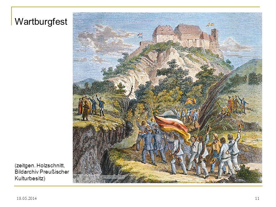 18.05.201411 Wartburgfest (zeitgen. Holzschnitt, Bildarchiv Preußischer Kulturbesitz)