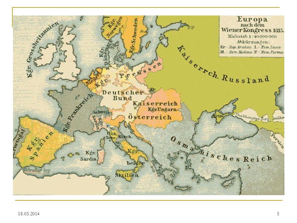 Der Deutsche Bund Mit dem Deutschen Bund wird in säkularisierter Form an das Alte Reich angeknüpft, allerdings nicht in der alten Ständevielfalt, sondern als Fürstenversammlung unter österreichisch-preußischer Führung.