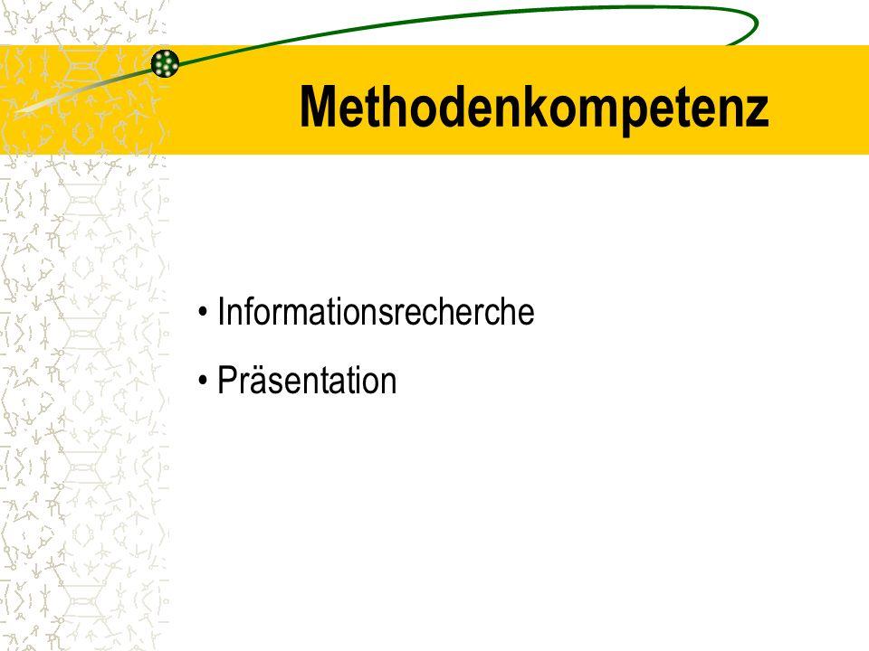 Methodenkompetenz Informationsrecherche Präsentation
