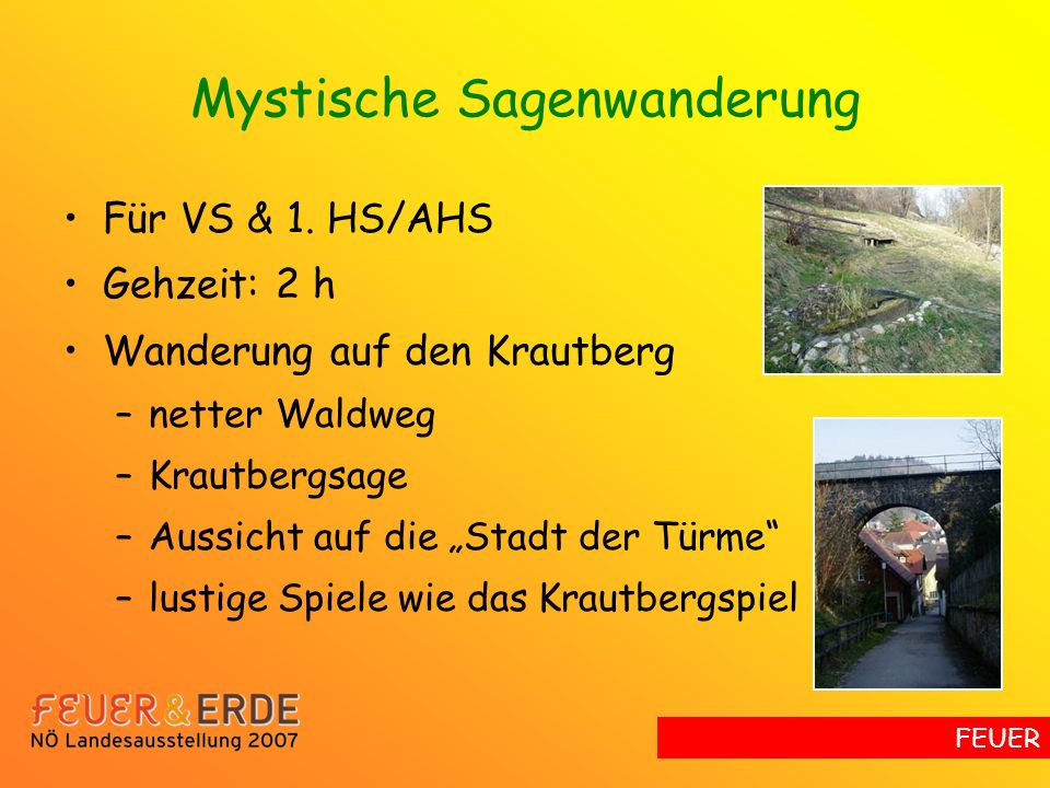 Mystische Sagenwanderung Für VS & 1.