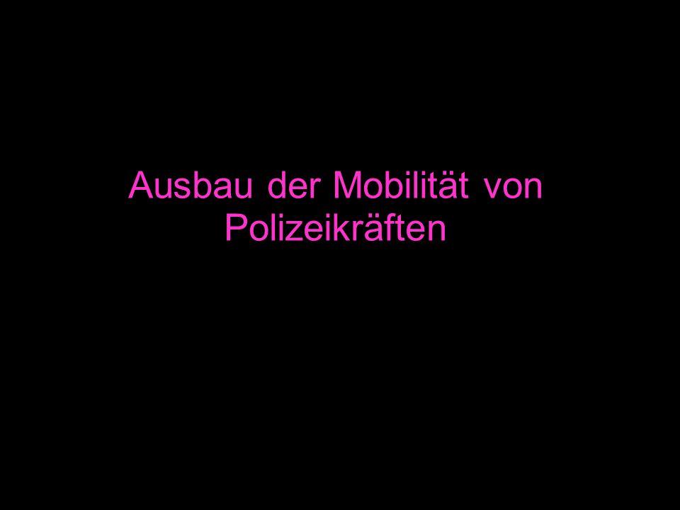 Ausbau der Mobilität von Polizeikräften