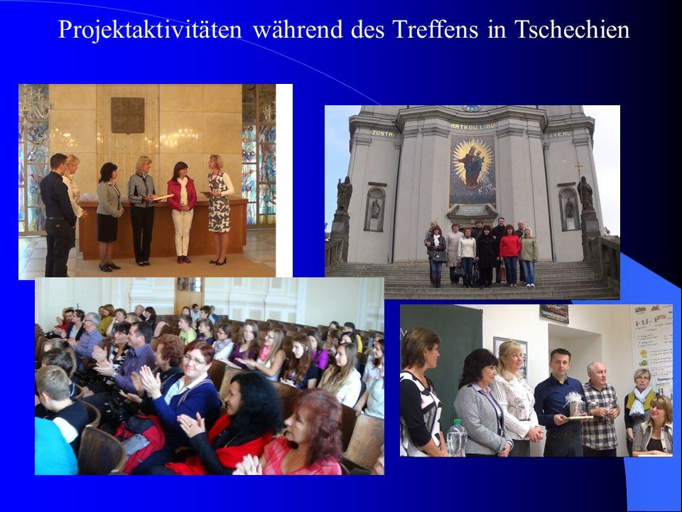 Projektaktivitäten während des Treffens in Tschechien