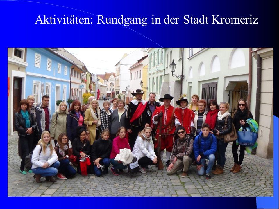 Aktivitäten: Rundgang in der Stadt Kromeriz
