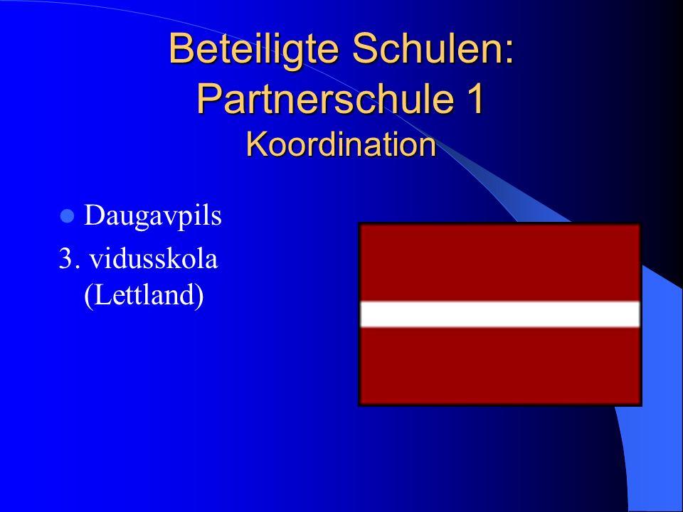 Beteiligte Schulen: Partnerschule 1 Koordination Daugavpils 3. vidusskola (Lettland)