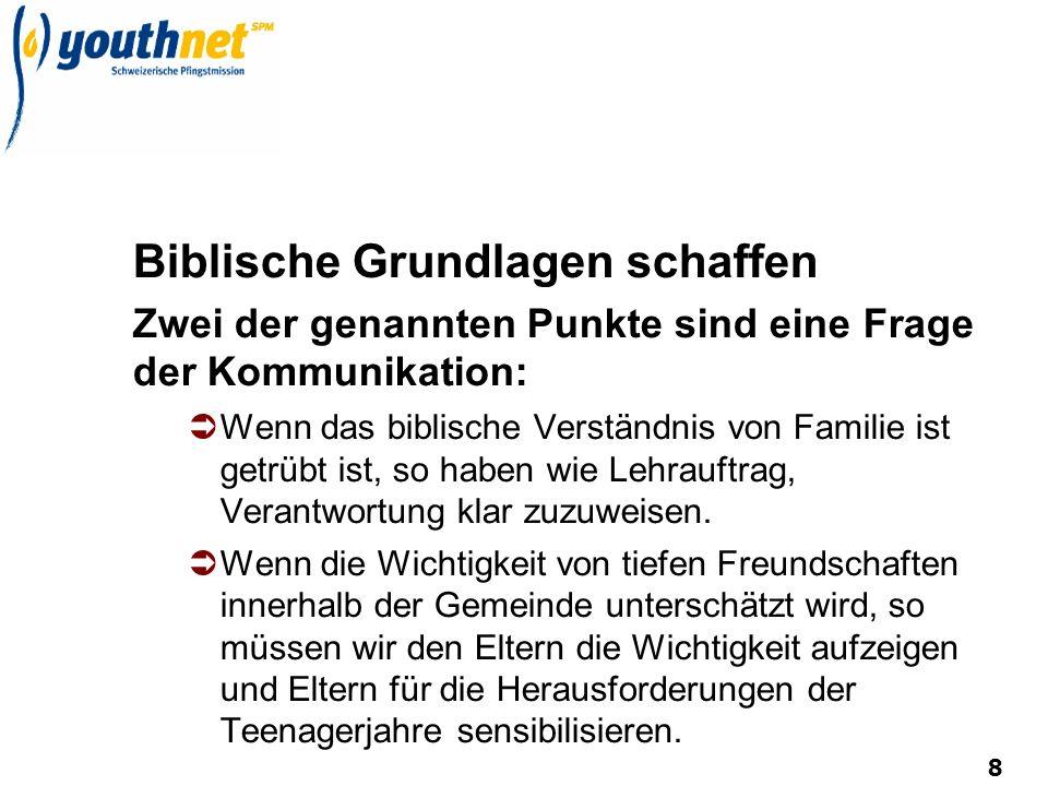 8 Biblische Grundlagen schaffen Zwei der genannten Punkte sind eine Frage der Kommunikation: Wenn das biblische Verständnis von Familie ist getrübt is
