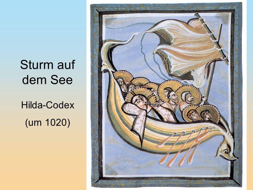 Sturm auf dem See Hilda-Codex (um 1020)