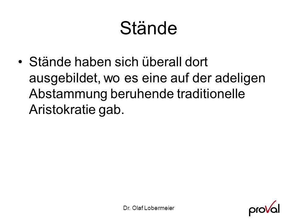 Dr.Olaf Lobermeier Das Bildungsbürgertum (Oberschicht) Ca.