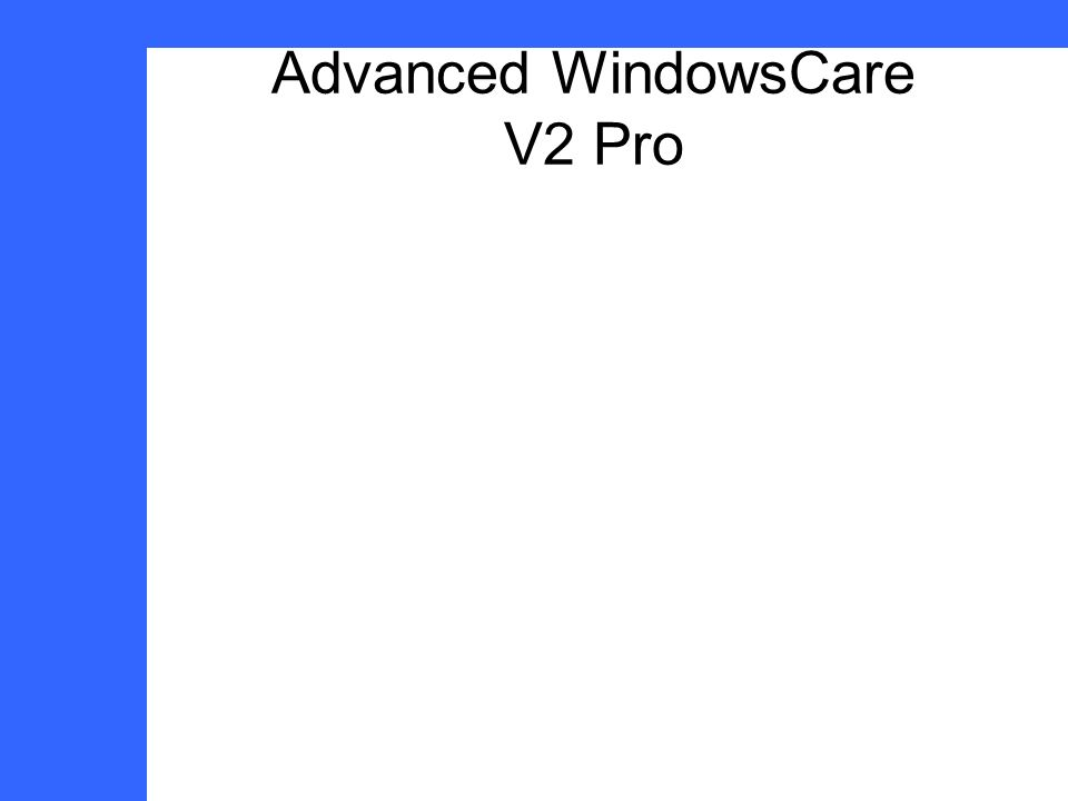 Advanced WindowsCare V2 Pro