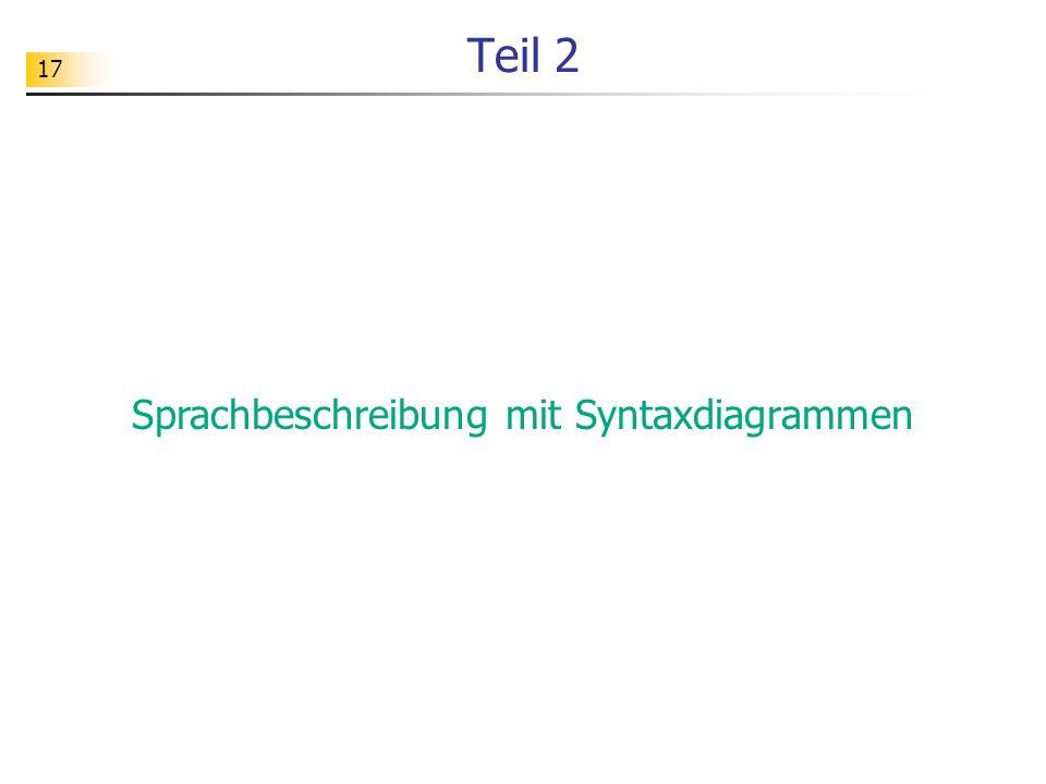 17 Teil 2 Sprachbeschreibung mit Syntaxdiagrammen