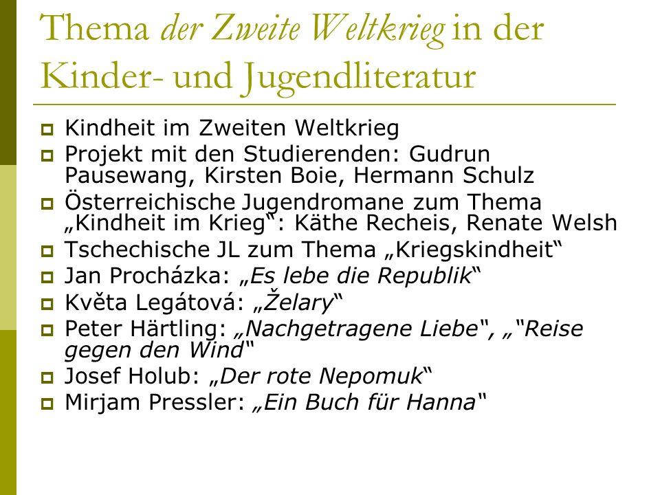 Kriegs- und Nachkriegskindheiten Gabriele von Glasenapp, Hans-Heino Ewers (Hrsg.): Kriegs- und Nachkriegskindheiten.