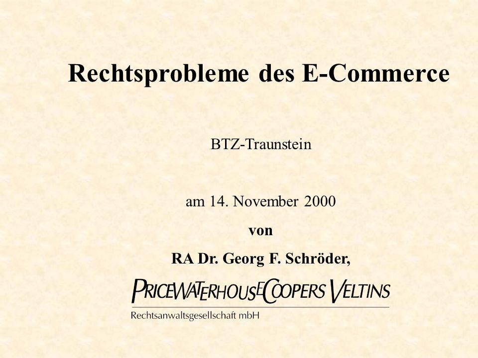2 Einführung von RA Dr. Georg F. Schröder © Dr. Schröder