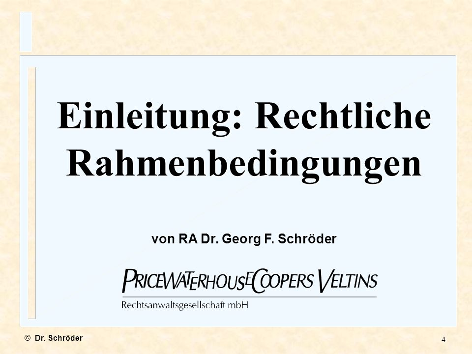 5 1.Einführung: Rechtliche Rahmenbedingungen in der Bundesrepublik Deutschland 2.