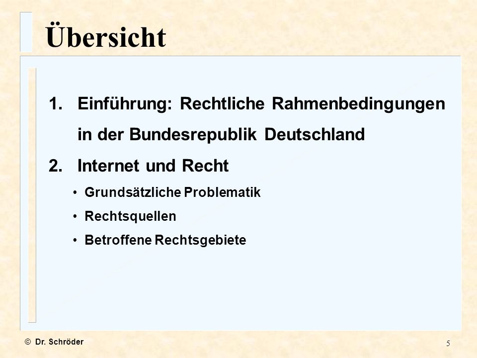 26 Prüfungsschema © Dr.Schröder n Anwendbarkeit deutschen Rechts.
