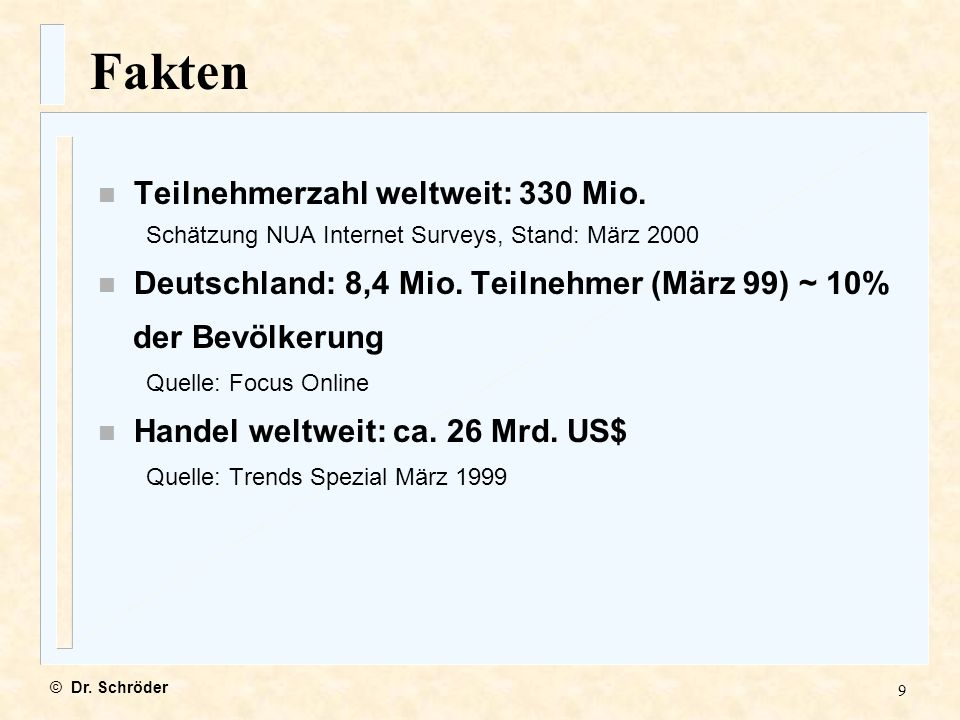 70 Urheberrecht im Internet von RA Dr. Georg F. Schröder © Dr. Schröder