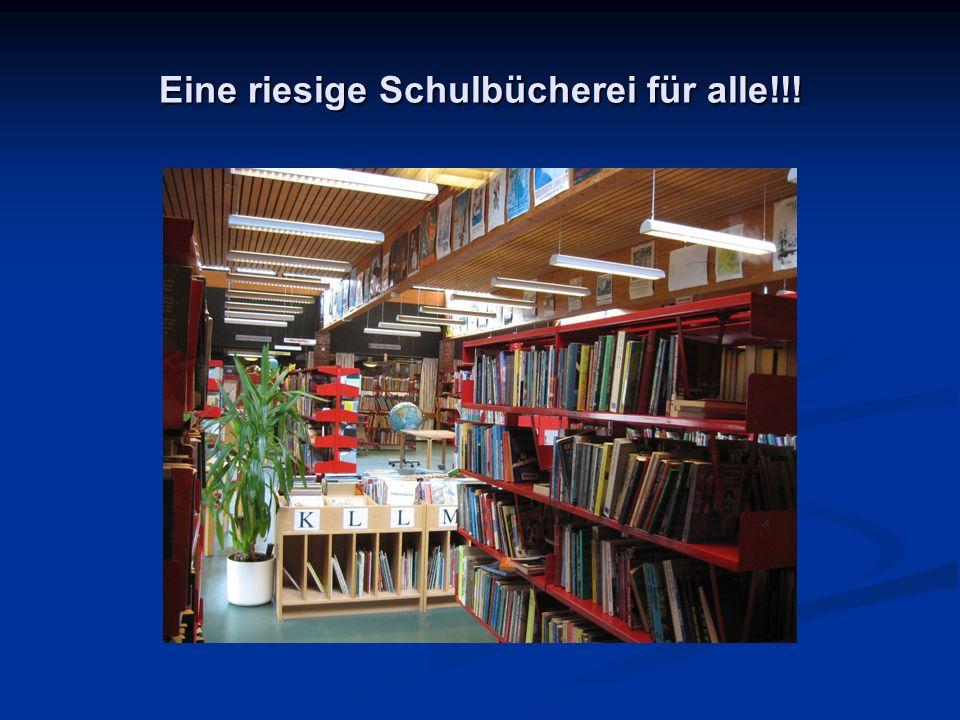 Eine riesige Schulbücherei für alle!!!