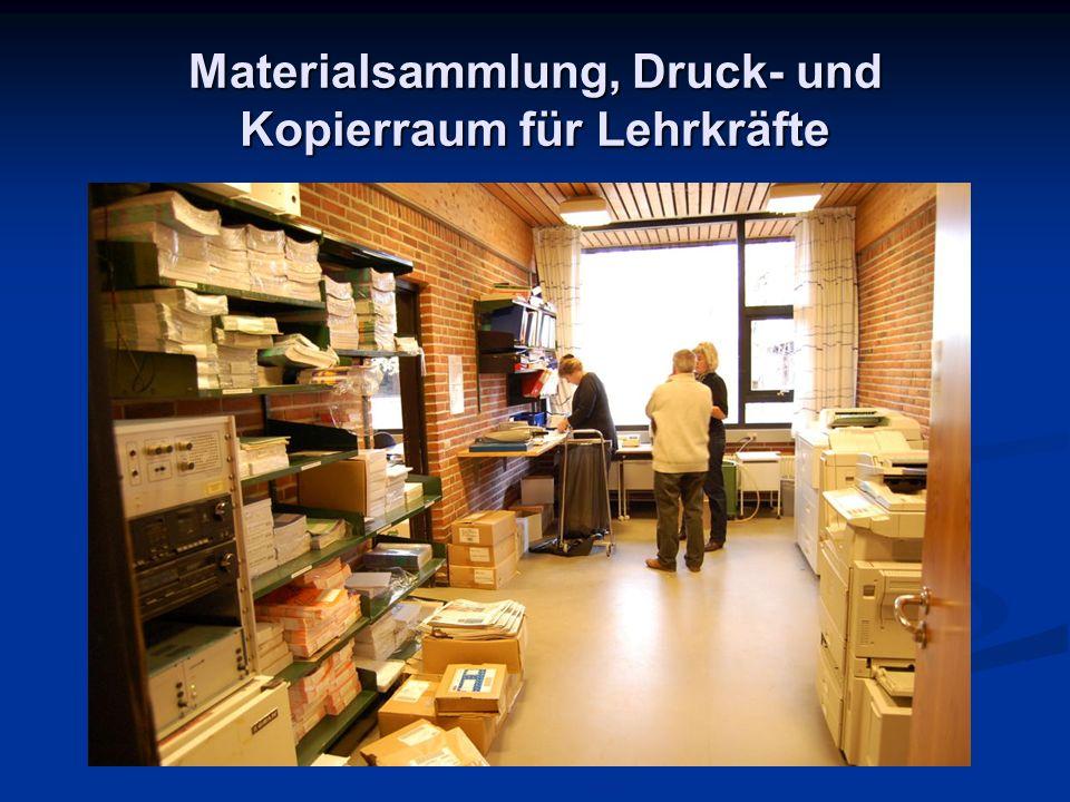Materialsammlung, Druck- und Kopierraum für Lehrkräfte