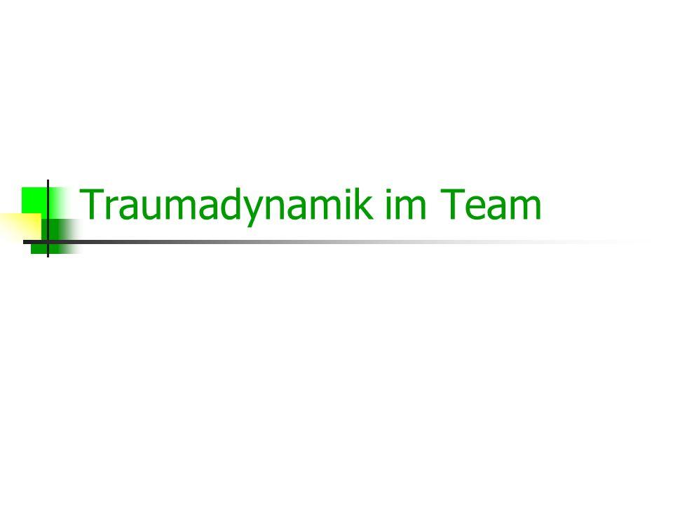 Traumadynamik im Team
