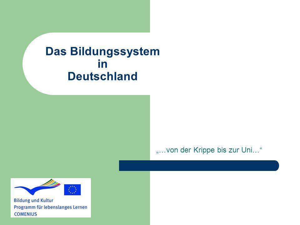 Das Bildungssystem in Deutschland …von der Krippe bis zur Uni…