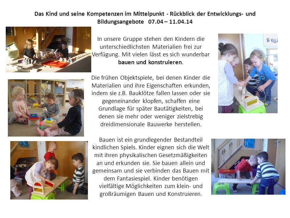 Das Kind und seine Kompetenzen im Mittelpunkt - Rückblick der Entwicklungs- und Bildungsangebote 07.04 – 11.04.14 Der Osterhase war da!!.