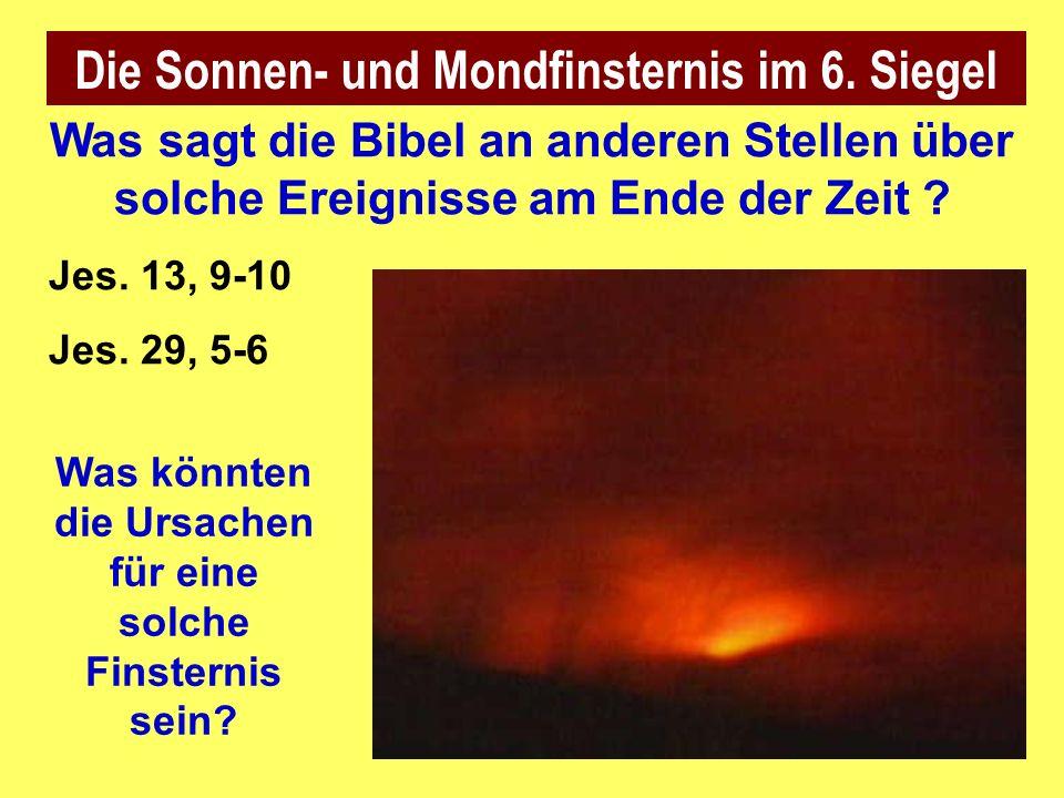 Die Sonnen- und Mondfinsternis im 6.