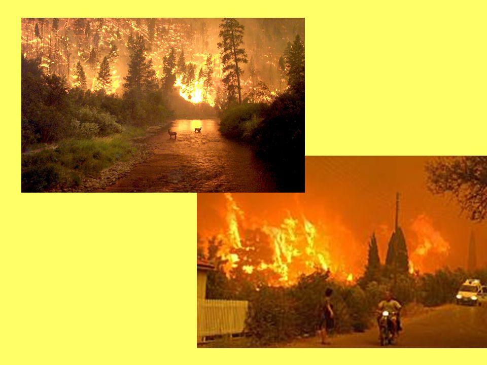 Brennende Ölfelder