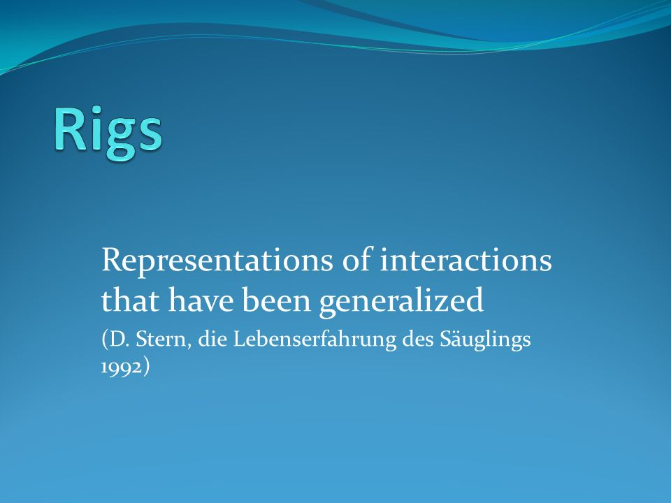 Representations of interactions that have been generalized (D. Stern, die Lebenserfahrung des Säuglings 1992)