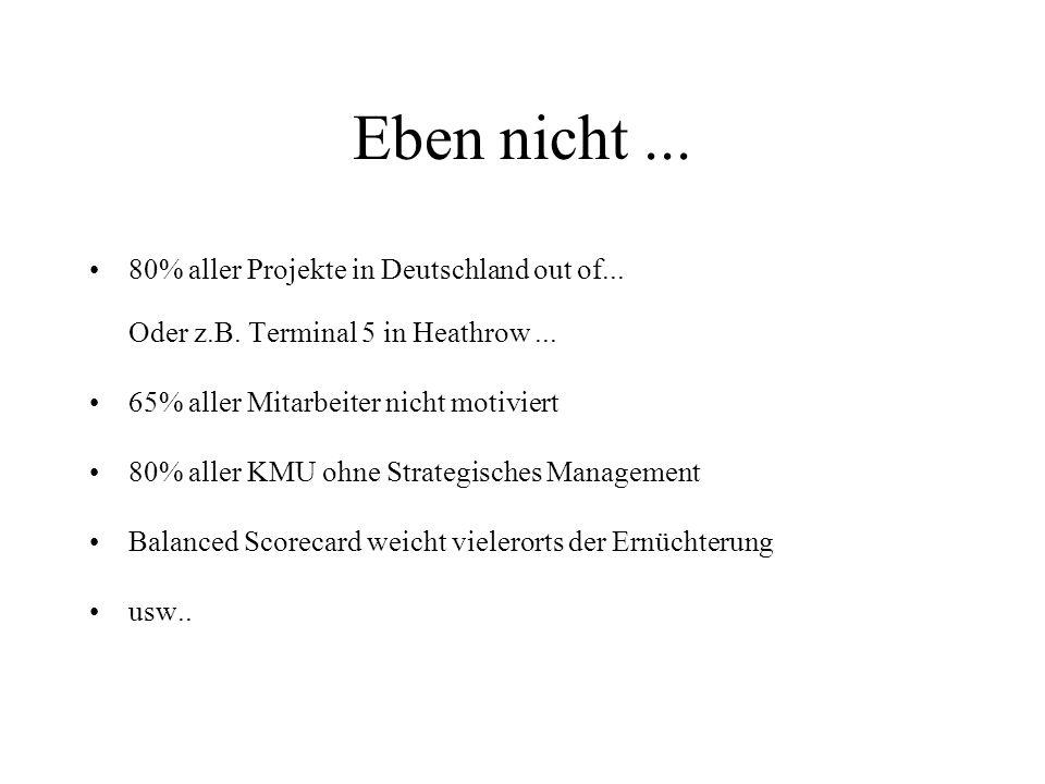 Eben nicht...80% aller Projekte in Deutschland out of...