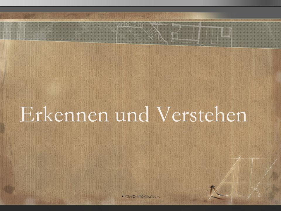Franz Hörmann Erkennen und Verstehen