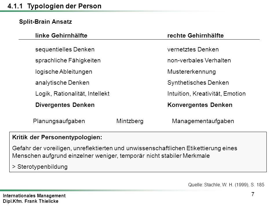 Internationales Management Dipl.Kfm.Frank Thielicke 68 Quelle: Staehle, W.