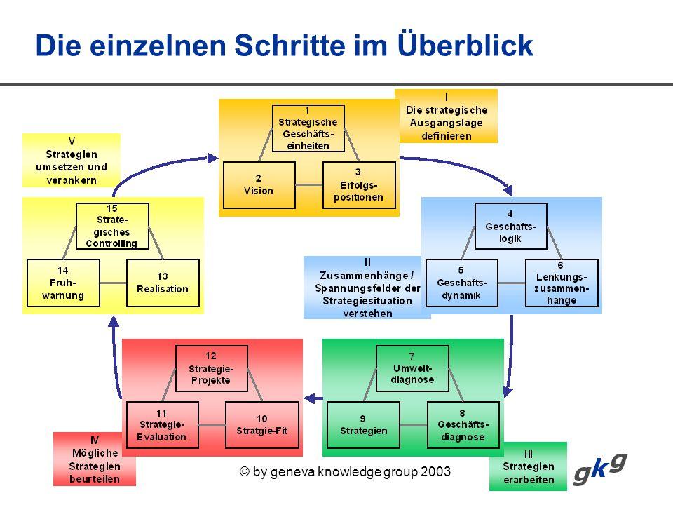 © by geneva knowledge group 2003 Die einzelnen Schritte im Überblick
