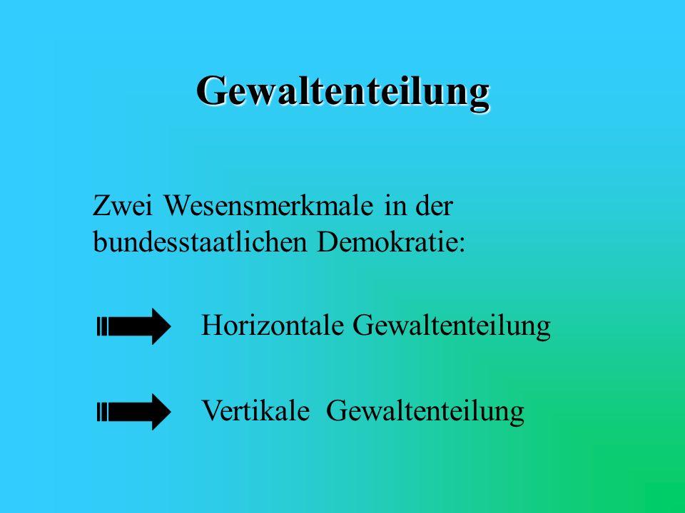 Arbeits-/Aufgabenteilung im deutschen Bundesstaat 1. Gewaltenteilung 2.Zuständigkeiten