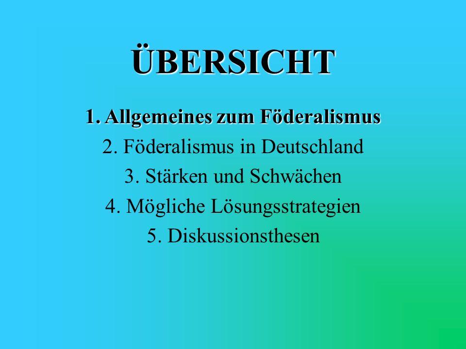 Historische Dimension des deutschen Bundesstaats Ausnahmen: 1933 – 1945NS-Regime 1949 – 1990SED-Diktatur