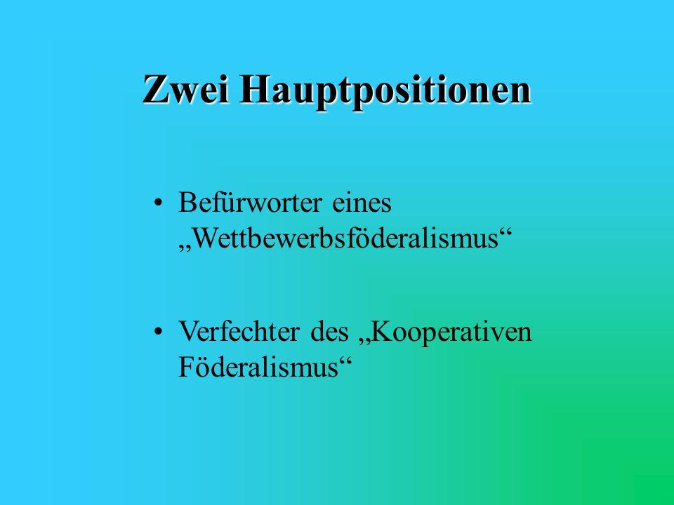 Weitere Denkansätze Angleichung der Wahltermine für Landtagswahlen Bundesrat als Vertretung der Parlamente anstatt der Regierungen