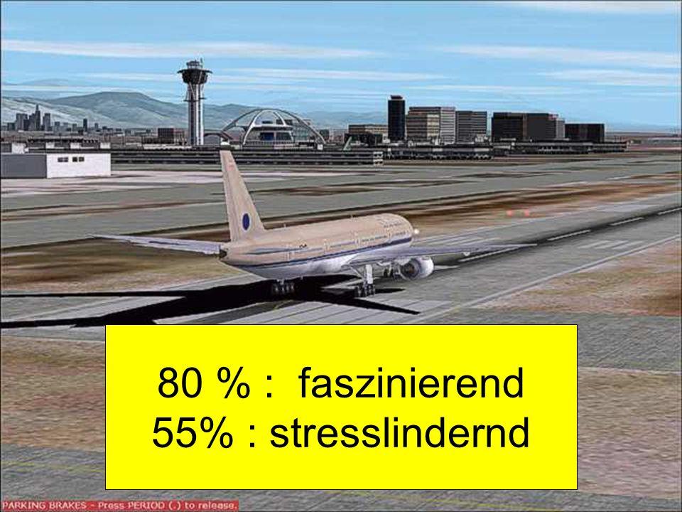 28 80 % : faszinierend 55% : stresslindernd
