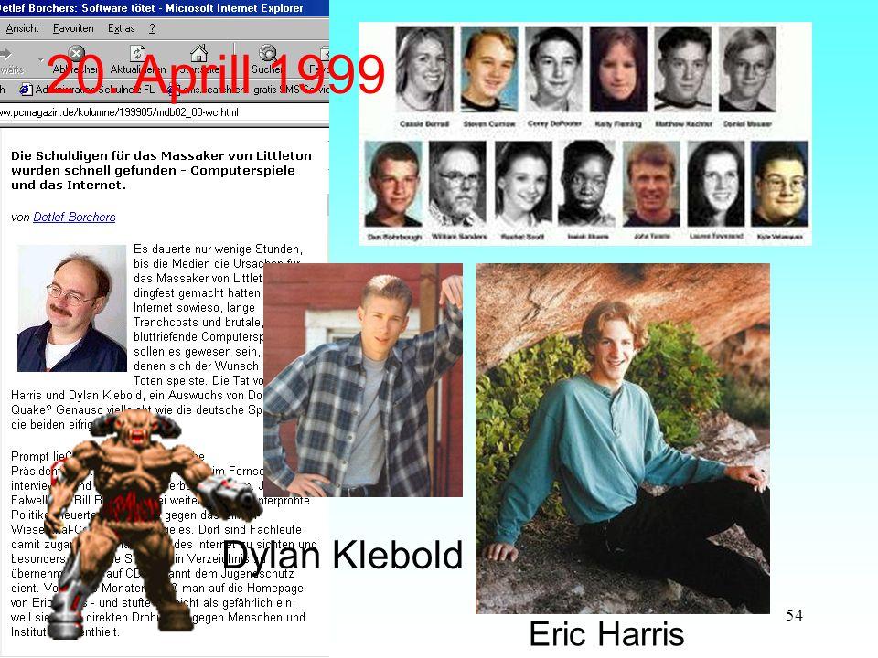 54 Dylan Klebold Eric Harris 20. Aprill 1999