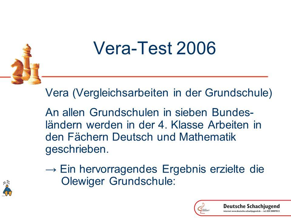 Vera-Test 2006 Vera (Vergleichsarbeiten in der Grundschule) An allen Grundschulen in sieben Bundes- ländern werden in der 4.