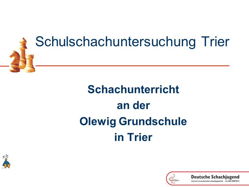 Schulschachuntersuchung Trier Schachunterricht an der Olewig Grundschule in Trier