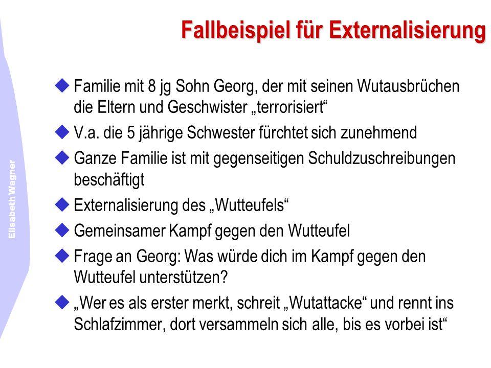 Elisabeth Wagner Fallbeispiel für Externalisierung Familie mit 8 jg Sohn Georg, der mit seinen Wutausbrüchen die Eltern und Geschwister terrorisiert V