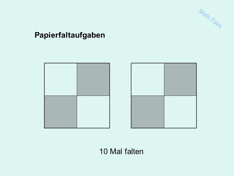 Papierfaltaufgaben 10 Mal falten