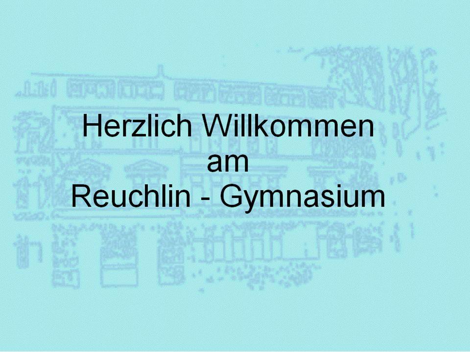 Ausbildungsrichtungen am Reuchlin - Gymnasium NTGSG Naturwissenschaftlich- technologisches Gymnasium Sprachliches Gymnasium Sonderform Humanistisches Gymnasium