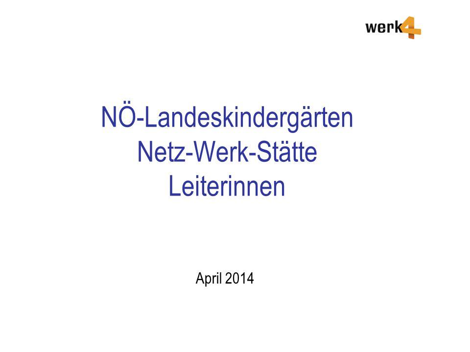 NÖ-Landeskindergärten Netz-Werk-Stätte Leiterinnen April 2014
