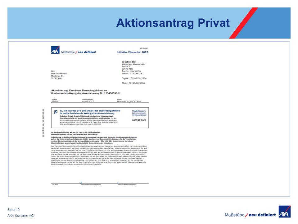 AXA Konzern AG Seite 19 Aktionsantrag Privat